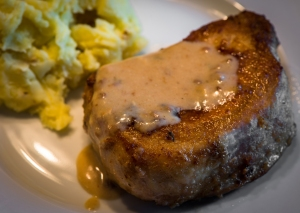 Pork Chop with Country Gravy__No Sugarless Gum