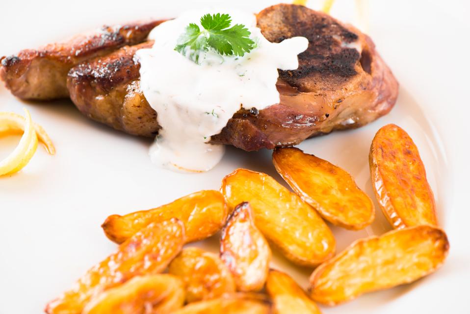 ... Recipes: Lamb Chops with Yogurt Sauce and Fingerling Potatoes