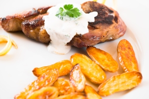 Lamb with Yogurt Sauce and Fingerling Potatoes3__No Sugarless Gum
