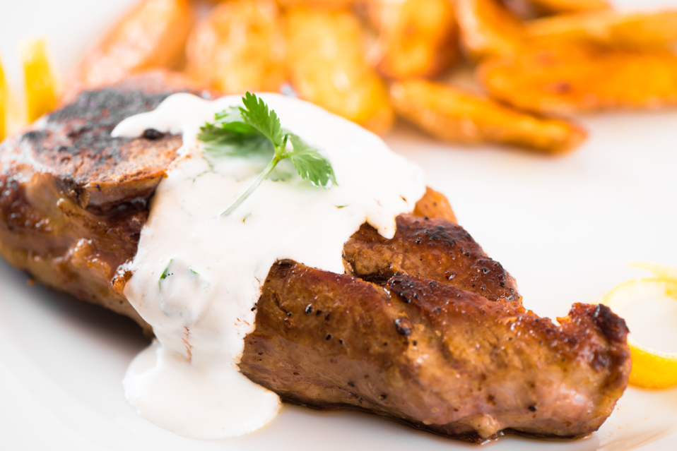 ... Recipes: Lamb Chops with Yogurt Sauce and Fingerling Potatoes