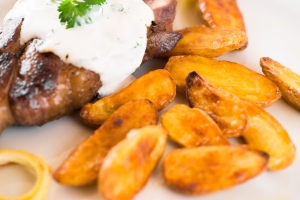 Lamb with Yogurt Sauce and Fingerling Potatoes6__No Sugarless Gum-2