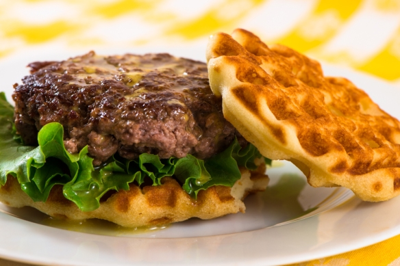 Buffalo Burger with Waffle Bun4__No Sugarless Gum