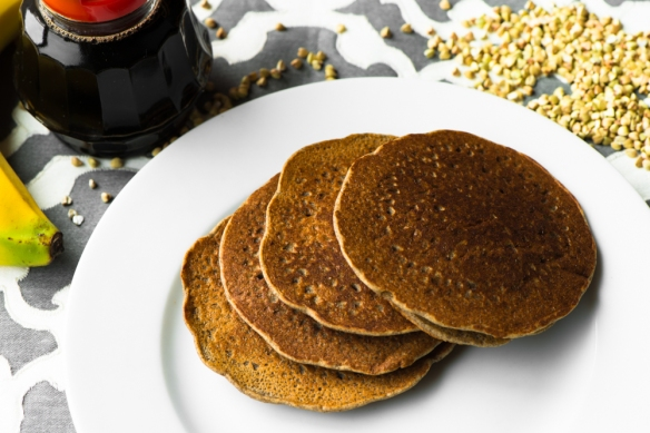 Buckwheat Banana Pancakes__No Sugarless Gum