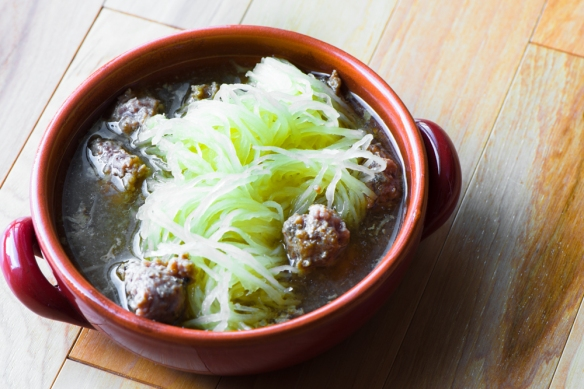 "Meatball ""Noodle"" Soup__No Sugarless Gum"
